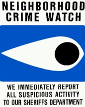 Neighborhood Crime Watch Sticker