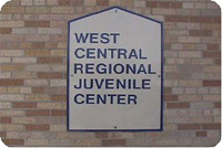 West Central Regional Juvenile Center Sign