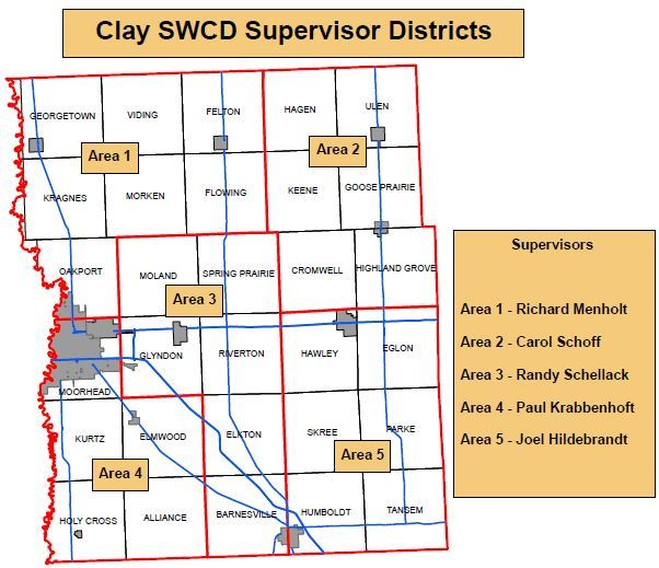 Clay SWCD Supervisor Districts